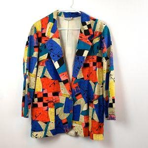 Vintage Danielle B Women's Geometric  Blazer